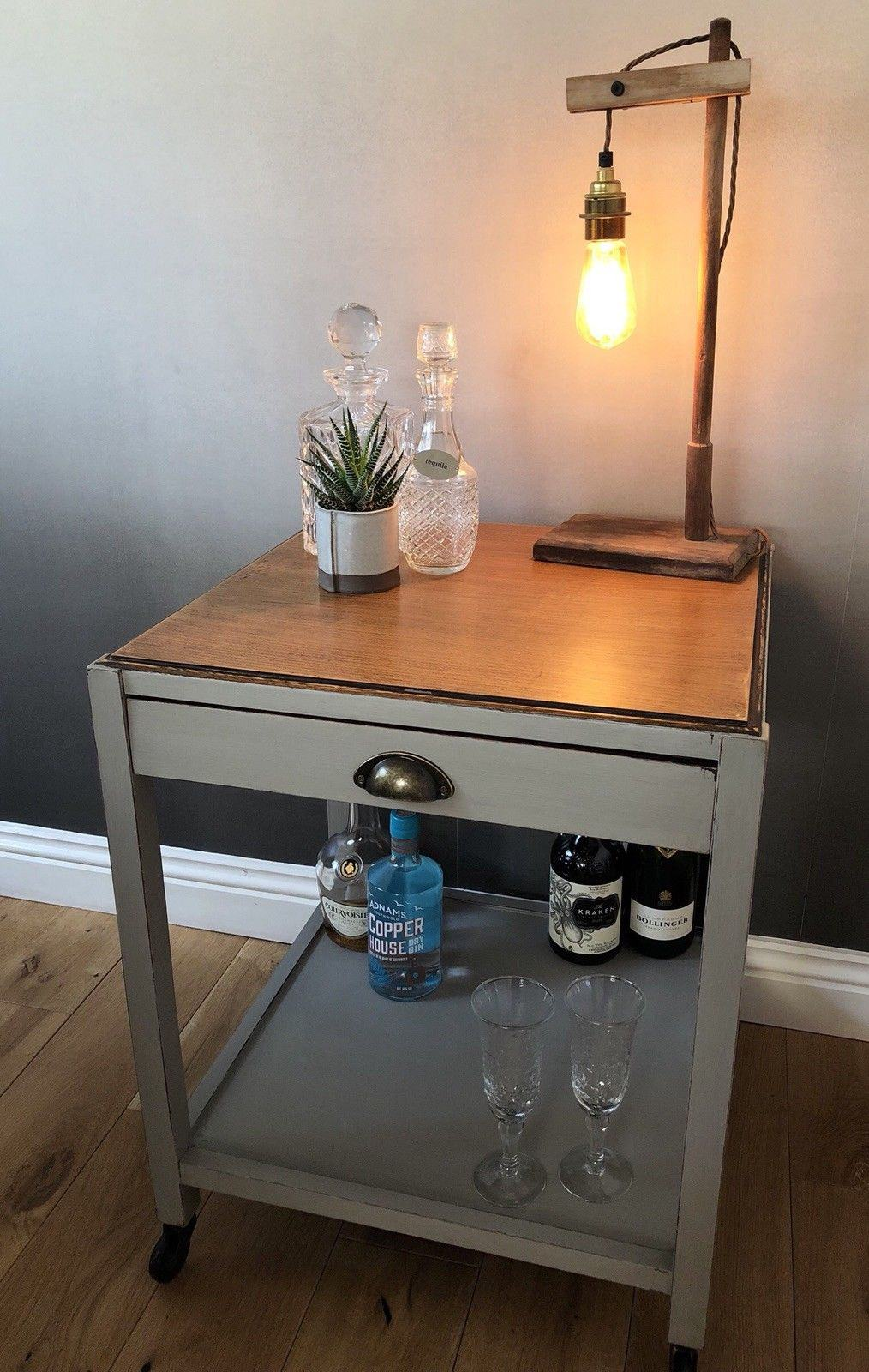 upcycled drinks cabinet